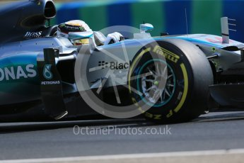 World © Octane Photographic Ltd. Mercedes AMG Petronas F1 W06 Hybrid – Lewis Hamilton. Friday 24th July 2015, F1 Hungarian GP Practice 2, Hungaroring, Hungary. Digital Ref: 1348LB1D9030