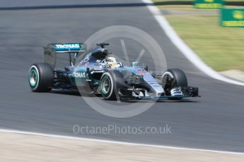 World © Octane Photographic Ltd. Mercedes AMG Petronas F1 W06 Hybrid – Lewis Hamilton. Saturday 25th July 2015, F1 Hungarian GP Practice 3, Hungaroring, Hungary. Digital Ref: 1352CB7D8492
