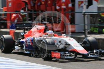 World © Octane Photographic Ltd. Manor Marussia F1 Team MR03B – William Stevens. Saturday 25th July 2015, F1 Hungarian GP Practice 3, Hungaroring, Hungary. Digital Ref: 1352LB1D0078