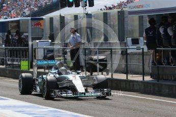 World © Octane Photographic Ltd. Mercedes AMG Petronas F1 W06 Hybrid – Nico Rosberg. Saturday 25th July 2015, F1 Hungarian GP Practice 3, Hungaroring, Hungary. Digital Ref: 1352LB1D0113