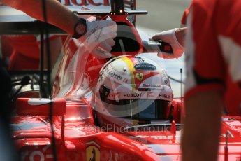 World © Octane Photographic Ltd. Scuderia Ferrari SF15-T– Sebastian Vettel. Saturday 25th July 2015, F1 Hungarian GP Practice 3, Hungaroring, Hungary. Digital Ref: 1352LB1D0182