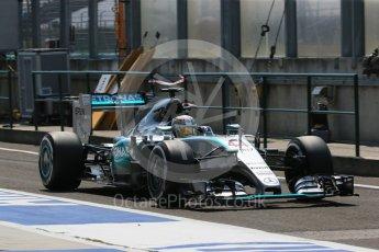 World © Octane Photographic Ltd. Mercedes AMG Petronas F1 W06 Hybrid – Lewis Hamilton. Saturday 25th July 2015, F1 Hungarian GP Practice 3, Hungaroring, Hungary. Digital Ref: 1352LB1D0237
