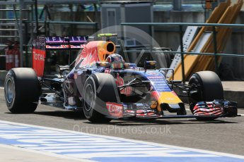 World © Octane Photographic Ltd. Infiniti Red Bull Racing RB11 – Daniil Kvyat. Saturday 25th July 2015, F1 Hungarian GP Practice 3, Hungaroring, Hungary. Digital Ref: 1352LB1D0401