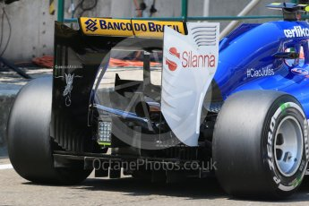 World © Octane Photographic Ltd. Sauber F1 Team C34-Ferrari – Felipe Nasr. Saturday 25th July 2015, F1 Hungarian GP Practice 3, Hungaroring, Hungary. Digital Ref: 1352LB1D0431