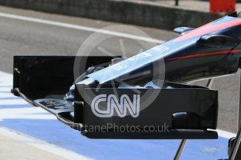 World © Octane Photographic Ltd. McLaren Honda MP4/30 nose. Saturday 25th July 2015, F1 Hungarian GP Practice 3, Hungaroring, Hungary. Digital Ref: 1352LB1D9688