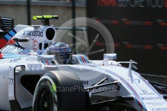 World © Octane Photographic Ltd. Williams Martini Racing FW37 – Valtteri Bottas. Saturday 25th July 2015, F1 Hungarian GP Practice 3, Hungaroring, Hungary. Digital Ref: 1352LB1D9995