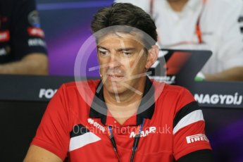 World © Octane Photographic Ltd. FIA Team Personnel Press Conference. Friday 24th July 2015, F1 Hungarian GP, Hungaroring, Hungary. Graeme Lowdon - Chief Executive Officer of the Manor Formula One team. Digital Ref: 1351LB1D9162