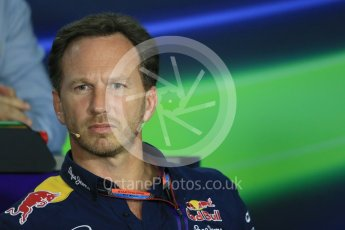 World © Octane Photographic Ltd. FIA Team Personnel Press Conference. Friday 24th July 2015, F1 Hungarian GP, Hungaroring, Hungary. Christian Horner – Infiniti Red Bull Racing Team Principle. Digital Ref: 1351LB1D9246