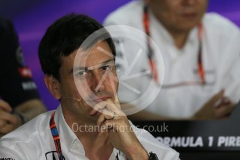 World © Octane Photographic Ltd. FIA Team Personnel Press Conference. Friday 24th July 2015, F1 Hungarian GP, Hungaroring, Hungary. Toto Wolff – Mercedes AMG Petronas Executive Director. Digital Ref: 1351LB1D9272