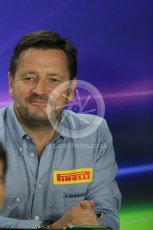 World © Octane Photographic Ltd. FIA Team Personnel Press Conference. Friday 24th July 2015, F1 Hungarian GP, Hungaroring, Hungary. Paul Hembrey – Pirelli Motorsport Director. Digital Ref: 1351LB1D9283
