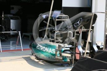World © Octane Photographic Ltd. Mercedes AMG Petronas F1 W06 Hybrid. Thursday 23rd July 2015, F1 Hungarian GP Pitlane, Hungaroring, Hungary. Digital Ref: 1343LB5D0009