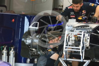 World © Octane Photographic Ltd. Infiniti Red Bull Racing RB1. Thursday 23rd July 2015, F1 Hungarian GP Pitlane, Hungaroring, Hungary. Digital Ref: 1343LB5D0019