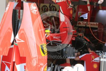 World © Octane Photographic Ltd. Scuderia Ferrari SF15-T. Thursday 23rd July 2015, F1 Hungarian GP Pitlane, Hungaroring, Hungary. Digital Ref: 1343LB5D0036