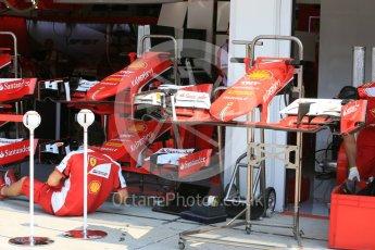 World © Octane Photographic Ltd. Scuderia Ferrari SF15-T. Thursday 23rd July 2015, F1 Hungarian GP Pitlane, Hungaroring, Hungary. Digital Ref: 1343LB5D0043