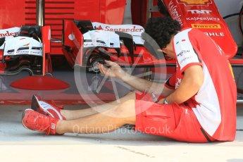 World © Octane Photographic Ltd. Scuderia Ferrari SF15-T. Thursday 23rd July 2015, F1 Hungarian GP Pitlane, Hungaroring, Hungary. Digital Ref: 1343LB5D0046