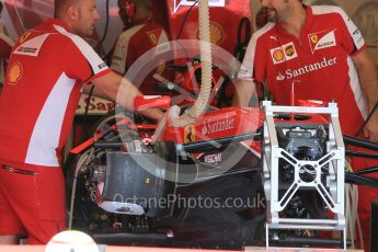 World © Octane Photographic Ltd. Scuderia Ferrari SF15-T. Thursday 23rd July 2015, F1 Hungarian GP Pitlane, Hungaroring, Hungary. Digital Ref: 1343LB5D0049