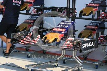 World © Octane Photographic Ltd. Scuderia Toro Rosso STR10. Thursday 23rd July 2015, F1 Hungarian GP Pitlane, Hungaroring, Hungary. Digital Ref: 1343LB5D0104