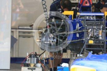 World © Octane Photographic Ltd. Sauber F1 Team C34-Ferrari – Felipe Nasr. Thursday 23rd July 2015, F1 Hungarian GP Pitlane, Hungaroring, Hungary. Digital Ref: 1343LB5D0165