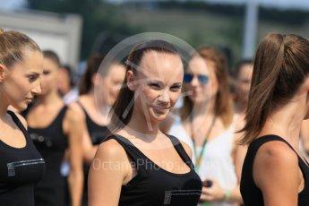 World © Octane Photographic Ltd. Saturday 25th July 2015. Grid girls. GP2 Race 1 – Hungaroring, Hungary. Digital Ref. : 1354CB1L6435