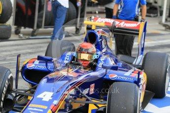 World © Octane Photographic Ltd. Saturday 25th July 2015. Carlin – Sean Gelael. GP2 Race 1 – Hungaroring, Hungary. Digital Ref. : 1354CB1L6518