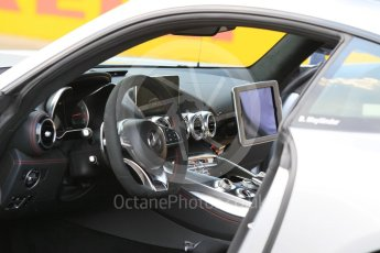 World © Octane Photographic Ltd. Saturday 25th July 2015. Mercedes AMG GTs Safety car. GP2 Race 1 – Hungaroring, Hungary. Digital Ref. : 1354CB1L6600