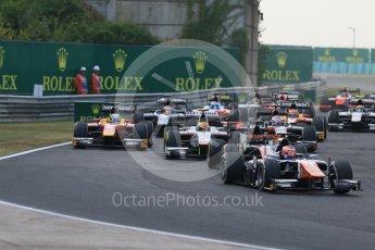 World © Octane Photographic Ltd. Saturday 25th July 2015. Trident – Raffaele Marciello. GP2 Race 1 – Hungaroring, Hungary. Digital Ref. : 1354CB7D8794