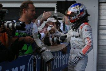 World © Octane Photographic Ltd. Saturday 25th July 2015. Rapax – Sergey Sirotkin (provisional 3rd). GP2 Race 1 parc ferme– Hungaroring, Hungary. Digital Ref. : 1354LB1D1442
