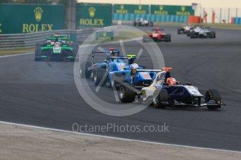 World © Octane Photographic Ltd. Saturday 25th July 2015. Carlin – Mitchell Gilbert and Jenzer Motorsport – Matheo Tuscher and Ralph Boschung. GP3 Race 1 – Hungaroring, Hungary. Digital Ref. :