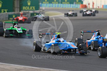 World © Octane Photographic Ltd. Saturday 25th July 2015. Jenzer Motorsport – Matheo Tuscher and Ralph Boschung. GP3 Race 1 – Hungaroring, Hungary. Digital Ref. :