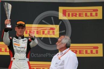 World © Octane Photographic Ltd. Saturday 25th July 2015. ART Grand Prix –  Marvin Kirchhofer (3rd). GP3 Race 1 Podium – Hungaroring, Hungary. Digital Ref. :
