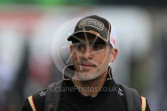 World © Octane Photographic Ltd. Lotus F1 Team E23 Hybrid – Pastor Maldonado. Saturday 5th September 2015, F1 Italian GP Paddock, Monza, Italy. Digital Ref: 1409LB1D0455
