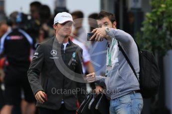 World © Octane Photographic Ltd. Mercedes AMG Petronas F1 W06 Hybrid – Nico Rosberg. Saturday 5th September 2015, F1 Italian GP Paddock, Monza, Italy. Digital Ref: 1409LB1D0570