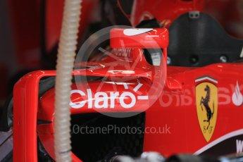 World © Octane Photographic Ltd. Scuderia Ferrari SF15-T side pod vanes. Thursday 3rd September 2015, F1 Italian GP Paddock, Monza, Italy. Digital Ref: 1400LB1D8070