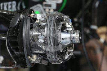 World © Octane Photographic Ltd. McLaren Honda MP4/30 front brakes. Thursday 3rd September 2015, F1 Italian GP Paddock, Monza, Italy. Digital Ref: 1400LB1D8082