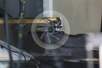 World © Octane Photographic Ltd. Mercedes AMG Petronas F1 W06 Hybrid rear floor detail. Thursday 3rd September 2015, F1 Italian GP Paddock, Monza, Italy. Digital Ref: 1400LB1D8132