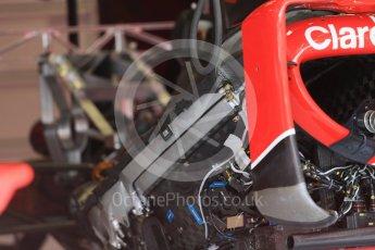 World © Octane Photographic Ltd. Scuderia Ferrari SF15-T side pod and radiator detail. Thursday 3rd September 2015, F1 Italian GP Paddock, Monza, Italy. Digital Ref: 1400LB1D8151