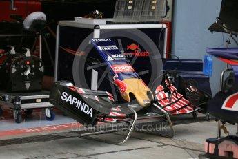 World © Octane Photographic Ltd. Scuderia Toro Rosso STR10 nose and front wing. Thursday 3rd September 2015, F1 Italian GP Paddock, Monza, Italy. Digital Ref: 1400LB5D8105