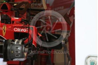 World © Octane Photographic Ltd. Scuderia Ferrari SF15-T turning vane detail. Thursday 3rd September 2015, F1 Italian GP Paddock, Monza, Italy. Digital Ref: 1400LB5D8133
