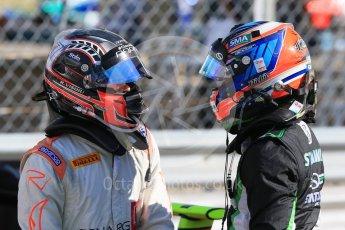 World © Octane Photographic Ltd. Saturday 5th September 2015. Status Grand Prix – Richie Stanaway and Rapax – Robert Visoiu. GP2 Race 1, Monza, Italy. Digital Ref. : 1413LB1D1778