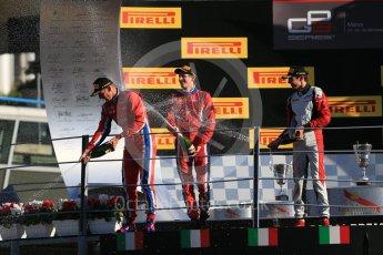 World © Octane Photographic Ltd. Saturday 5th September 2015. Arden International – Emil Bernstorff (1st), ART Grand Prix – Esteban Ocon (2nd) and Arden International – Kevin Ceccon. GP3 Race 1 - Monza, Italy. Digital Ref. : 1414LB1D1984