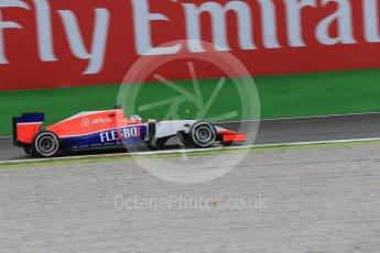 World © Octane Photographic Ltd. Manor Marussia F1 Team MR03B – William Stevens. Friday 4th September 2015, F1 Italian GP Practice 1, Monza, Italy. Digital Ref: 1405LB1D8803