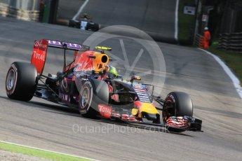 World © Octane Photographic Ltd. Infiniti Red Bull Racing RB11 – Daniil Kvyat. Friday 4th September 2015, F1 Italian GP Practice 1, Monza, Italy. Digital Ref: 1405LB7D6301