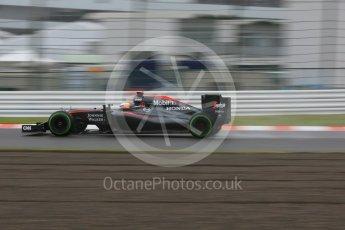 World © Octane Photographic Ltd. McLaren Honda MP4/30 – Fernando Alonso. Friday 25th September 2015, F1 Japanese Grand Prix, Practice 2, Suzuka. Digital Ref: