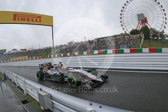 World © Octane Photographic Ltd. Sahara Force India VJM08B – Nico Hulkenberg. Friday 25th September 2015, F1 Japanese Grand Prix, Practice 2, Suzuka. Digital Ref: