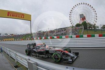 World © Octane Photographic Ltd. McLaren Honda MP4/30 - Jenson Button. Friday 25th September 2015, F1 Japanese Grand Prix, Practice 2, Suzuka. Digital Ref: