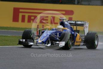 World © Octane Photographic Ltd. Sauber F1 Team C34-Ferrari – Marcus Ericsson. Friday 25th September 2015, F1 Japanese Grand Prix, Practice 2, Suzuka. Digital Ref: