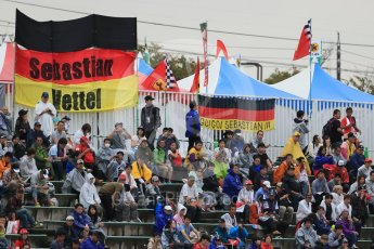 World © Octane Photographic Ltd. Sebastian Vettel flags. Friday 25th September 2015, F1 Japanese Grand Prix, Practice 2, Suzuka. Digital Ref: