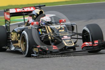 World © Octane Photographic Ltd. Lotus F1 Team E23 Hybrid – Romain Grosjean. Saturday 26th September 2015, F1 Japanese Grand Prix, Practice 3, Suzuka. Digital Ref: