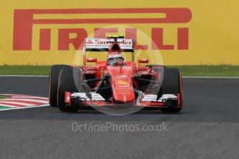 World © Octane Photographic Ltd. Scuderia Ferrari SF15-T– Kimi Raikkonen. Saturday 26th September 2015, F1 Japanese Grand Prix, Practice 3, Suzuka. Digital Ref: