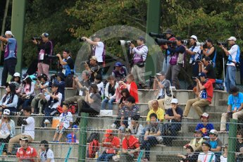 World © Octane Photographic Ltd. Fan photographers. Saturday 26th September 2015, F1 Japanese Grand Prix, Practice 3, Suzuka. Digital Ref: